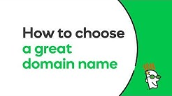 How to Choose a Great Domain Name | GoDaddy