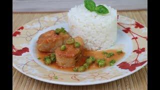 Рыба запеченная в духовке под томатным соусом