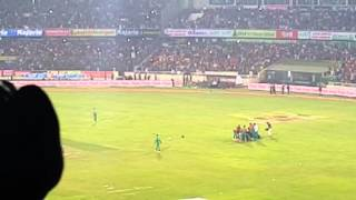Just after Bangladesh won against Pakistan in the T20 WorldCup 2016 - Field atmosphere - 02/03/16