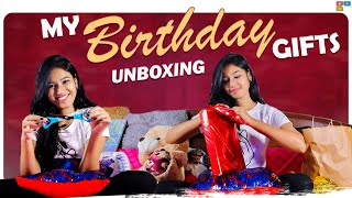 My Birthday Gifts Unboxing | My 18th Birthday | Neha Chowdary, Nani || Tamada Media