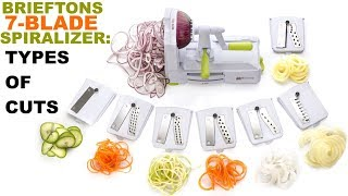 Brieftons 7-Blade Spiralizer: What Types of Results Can You Get With It?
