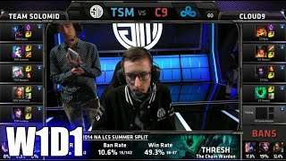 TSM vs Cloud 9 | S5 NA LCS Spring 2015 Week 1 Day 1 | Team Solomid TSM vs C9 W1D1G1 VOD 60FPS