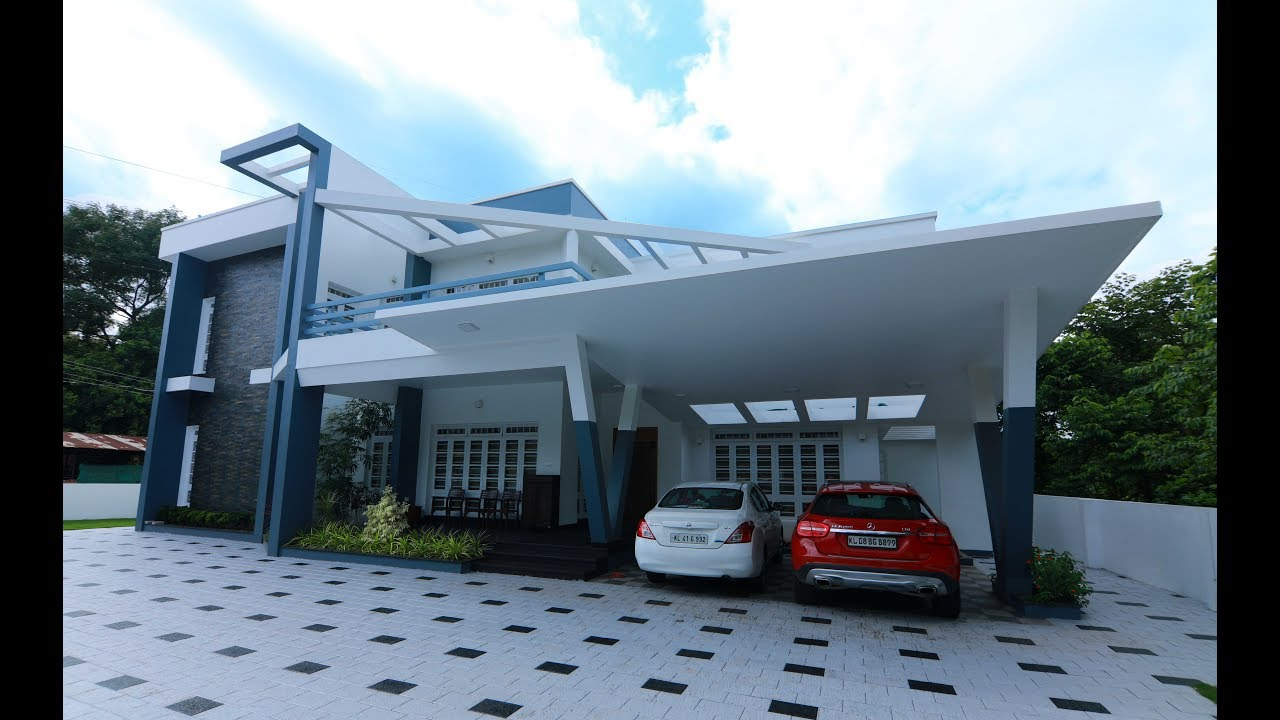 Kerala Contemporary Home At Trissur Youtube