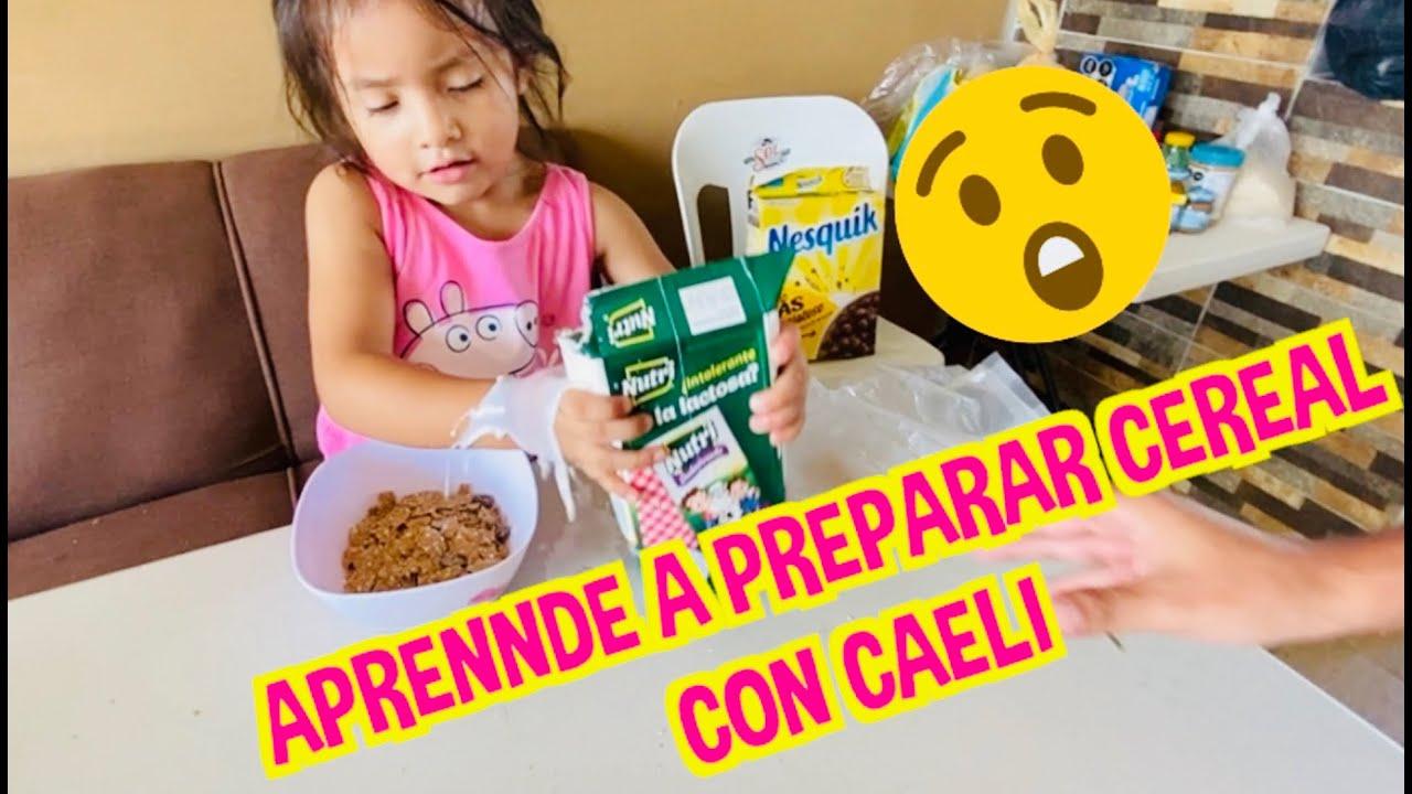 APRENDE A PREPARAR CEREAL CON CAELI / LOS DESTRAMPADOS / FATIMA Y CAELI