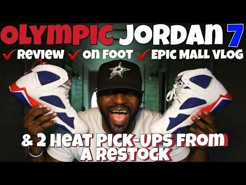 OLYMPIC JORDAN 7 | 2 HEAT PICK UPS & EPIC MALL VLOG
