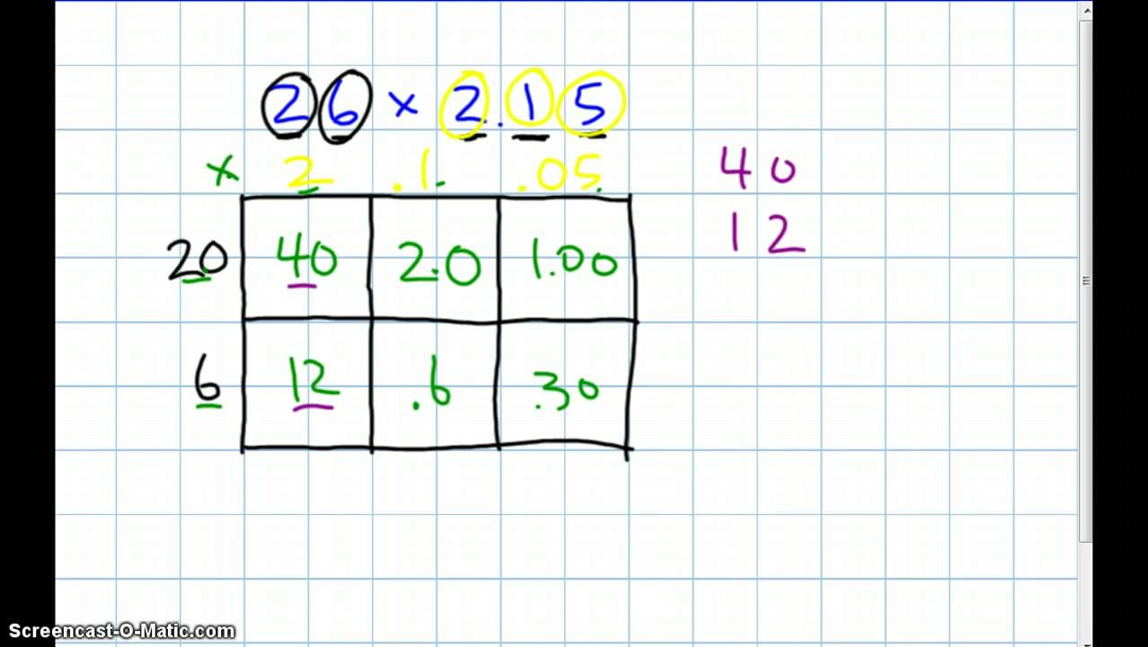 Multiplying decimals in expanded form youtube multiplying decimals in expanded form falaconquin