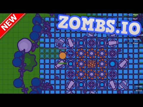 ZOMBS.IO - WORLD RECORD BIGGEST BASE vs 10000 ZOMBIES!! // NEW .io Game