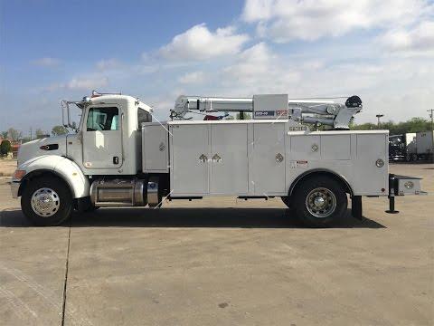 2015 Peterbilt 337 Service Body Truck 12k lb crane, compressor, remote, etc