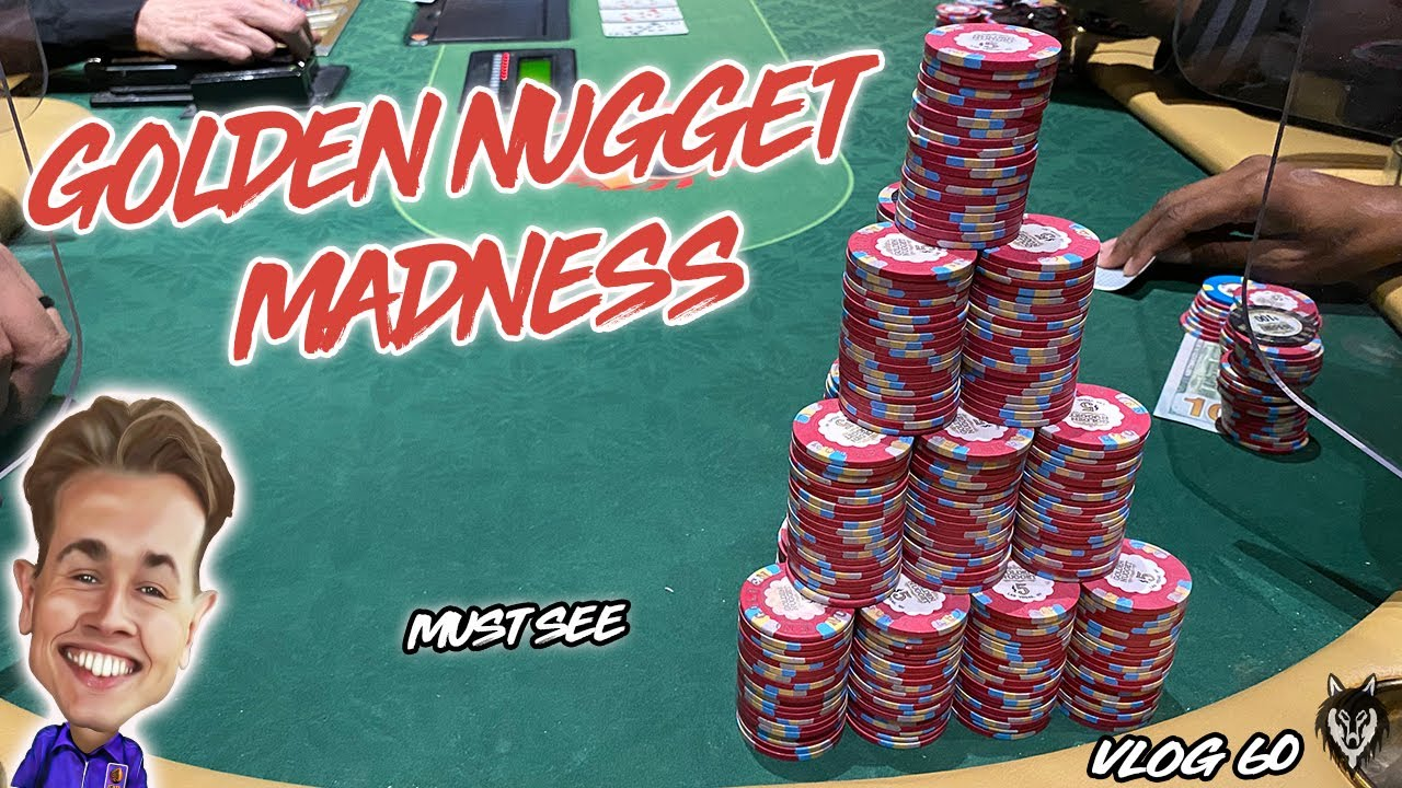 MADNESS AGAIN AT THE GOLDEN NUGGET LAS VEGAS!??   Poker Vlog #60