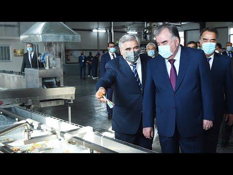 В Таджикистане запустили две новые производственные линии по переработке фруктов