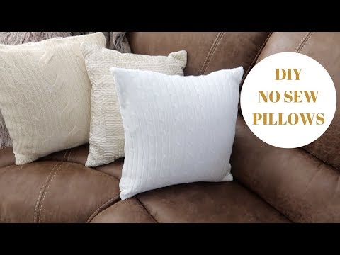How to sew a pillow from a sweater