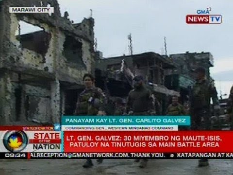 Panayam kay Lt. Gen. Carlito Galvez, hepe ng Western Mindanao Command