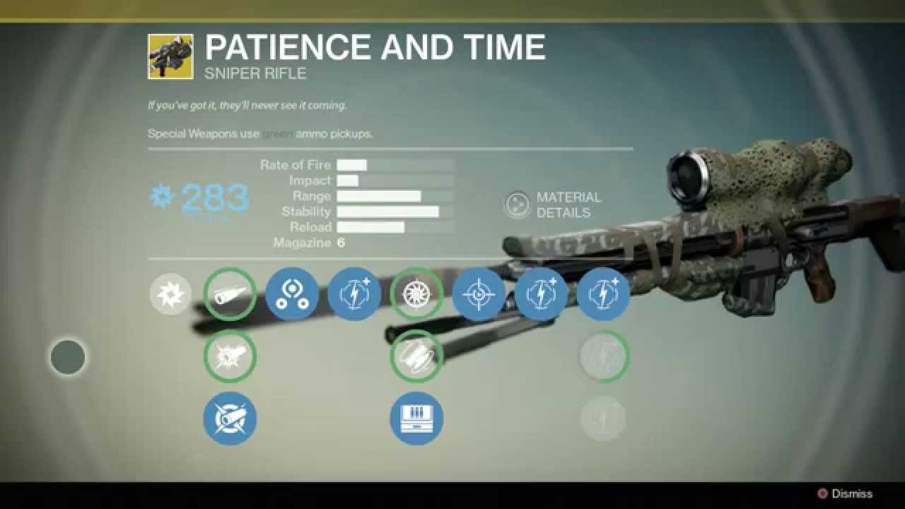 Destiny Exotic Weapon: Patience and Time Sniper - YouTube