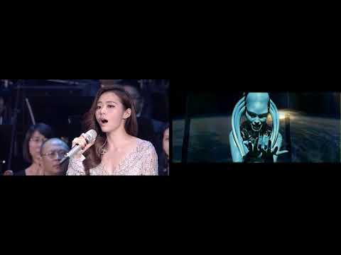 Jane Zhang vs robot from the Fifth Element
