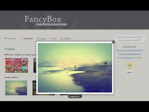 1. Fancybox - обзор скрипта всплывающих окон.