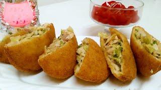 Chicken Bread Pocket - Ramadan special -Easy iftaar recipe