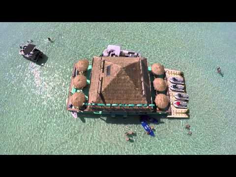 Beautiful Emerald Waters Destin, Florida Crab Island - Drone Video