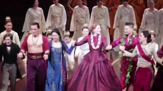 Marin Mazzie and Daniel Dae Kim take their first bows!