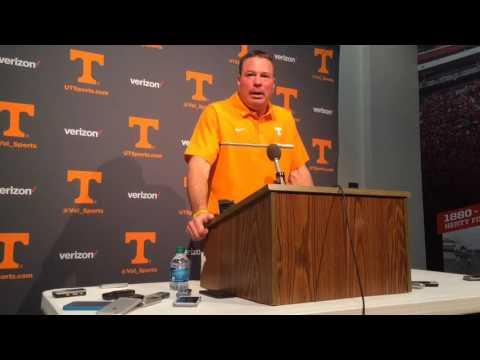 Butch Jones on Tennessee's 34-31 win at Georgia