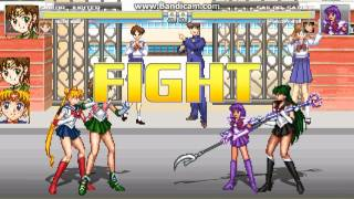 sailor jupiter,sailor moon team arcade mugen