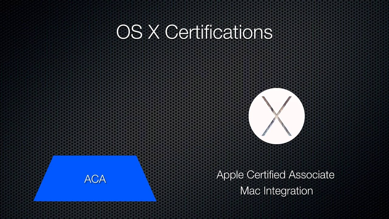 Mac Os X Certifications Yosemite Youtube