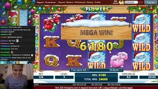 LetsGiveItASpin Big win on Flowers Christmas edition
