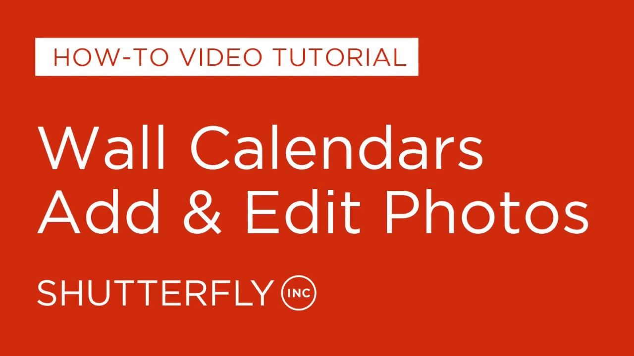 wall calendars how to add edit photos youtube