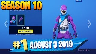 * NEW * BRONTO DINOSAUR SKIN & CRYSTAL SKIN FORTNITE DAILY ITEM SHOW SHOWCASE AUGUST 3 2019
