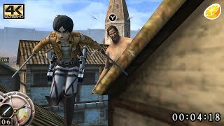 Citra 3DS Emulator - Attack on Titan Humanity in Chains Gameplay 4K 2160p (Canary - 9abeae8)