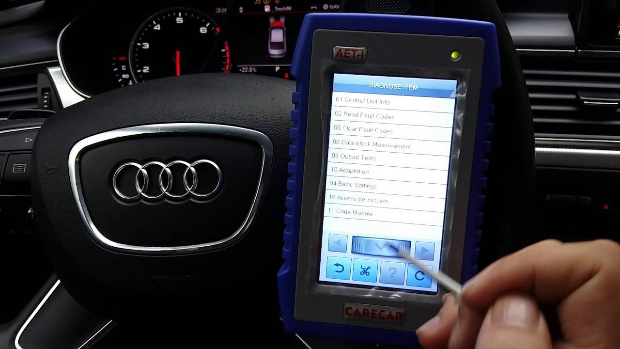 Audi A6L 2013,read & clear DTC