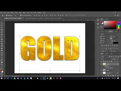 Gold Text Effect In Adobe Photoshop - Simple Tip For You