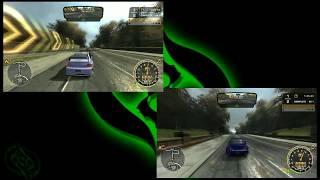 Lancer Evo vs Subaru Impreza pt.1 (NFS Most Wanted 2005)