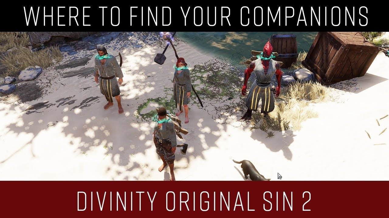 Divinity Original Sin 2 Where are your companions located (Fort Joy - Act I)