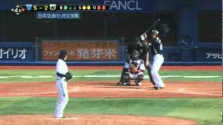 YB-M 2011年06月04日 南竜:ハーフスイングを取られて空振りの三振を喫す...