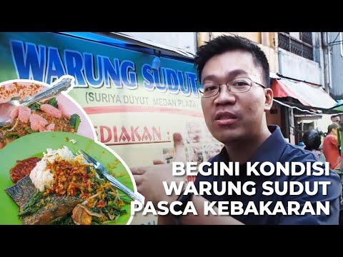 Kondisi Warung Sudut Sekarang Pasca Kebakaran Medan Plaza—Nasi Urapnya Pol!