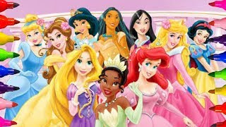 DISNEY PRINCESS AURORA| Sleeping Beauty Coloring Pages| for kids Learning Videos art