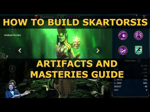 Raid Shadow Legends How To Build Skartorsis   Best Masteries and Artifacts Guide   Raid SL Gear