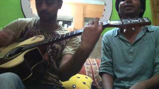 Teri yaad saath hai ( Namastey London ) guitar cover by palash & faizan.mp4