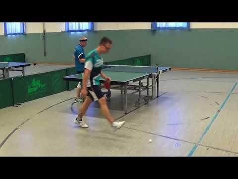 Werner vs Kraemer TTC Neunstadt 1Schwabach 20170806 Bavarian Race Tischtennis Stativ  16