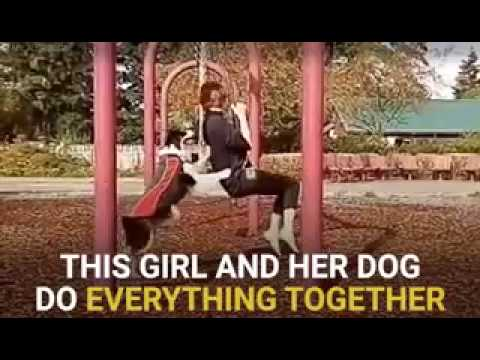 This Girl And Her Dog Do Everything Together