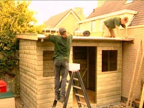 Schuur Met Lessenaarsdak : Gratis montage tuinhuis met lessenaarsdak fresia t youtube