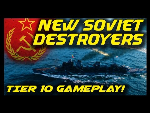 ► World of Warships: NEW USSR Ships - Khabarovsk Gameplay, New Tier 10 Destroyer - New Soviet Ships!
