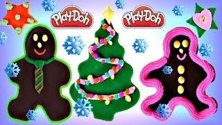 Christmas Cookies With Play Doh Dctc Bakery Playdough Gingerbread Man Reindeer Navidad Plastilina