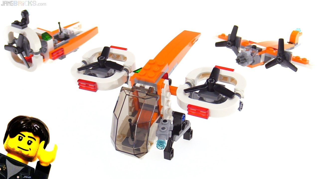 Lego Creator 3 In 1 Drone Explorer Review 31071 Youtube