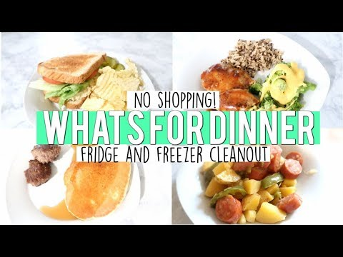 no-shopping-what's-for-dinner-|-week-of-meals-|-fridge-&-freezer-cleanout