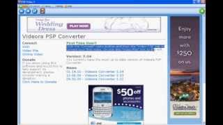 PSP VIDEO CONVERTER (HIGH QUALITY CONVERTER)