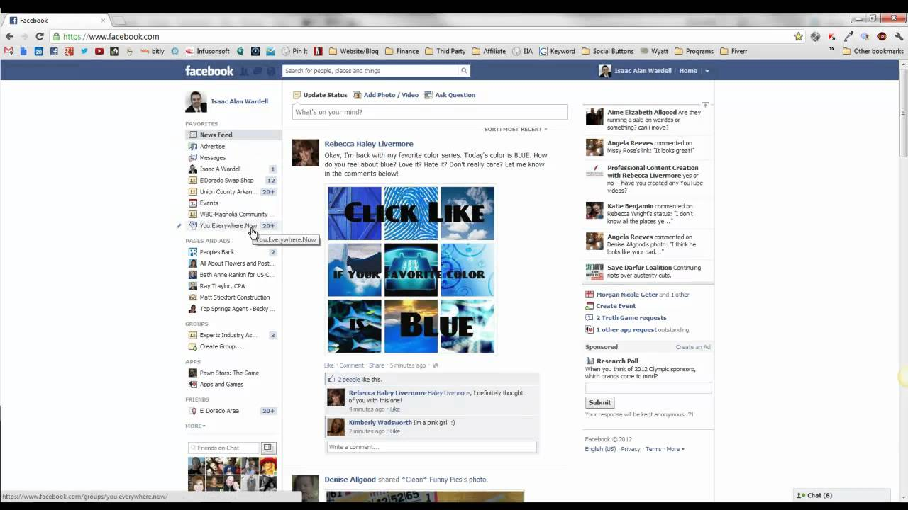 how to create and modify favorites on facebook youtube