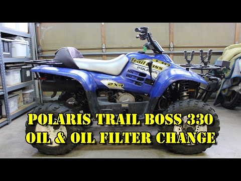 How to adjust the chain on a Polaris Trail Boss 330   FunnyCat TV