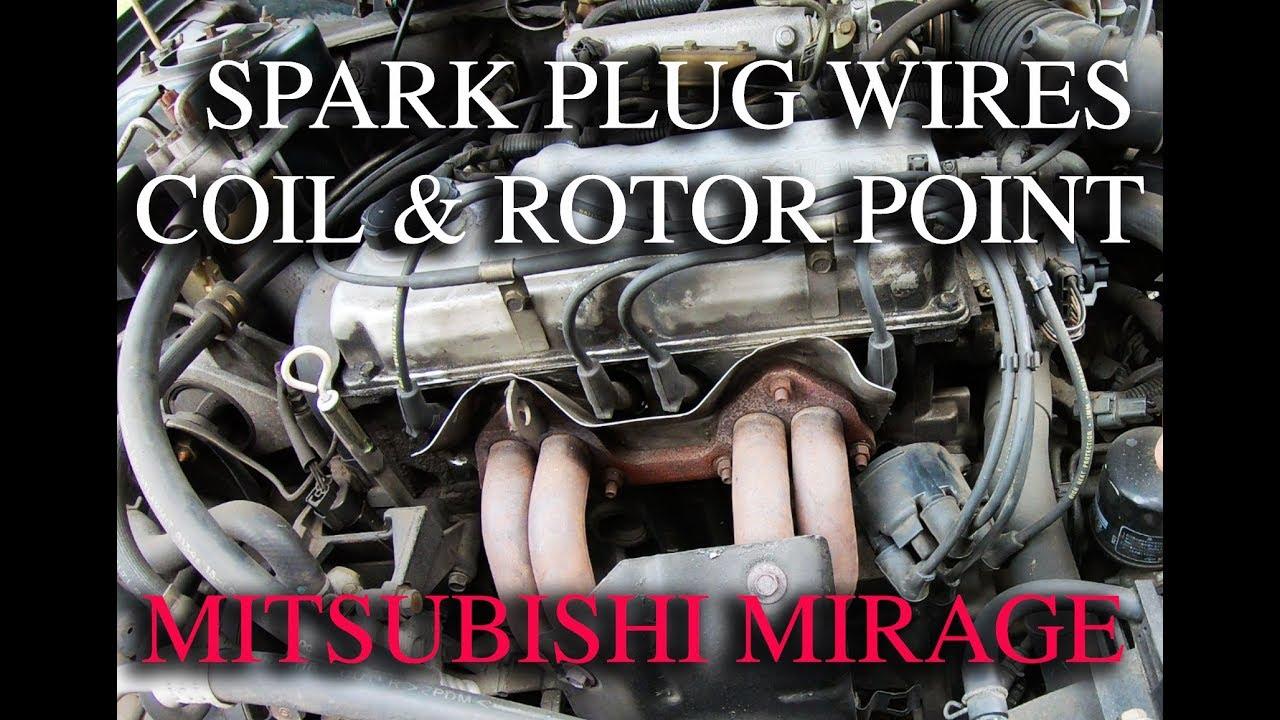 1999 Mitsubishi Mirage Spark Plugs Wires Change Youtube