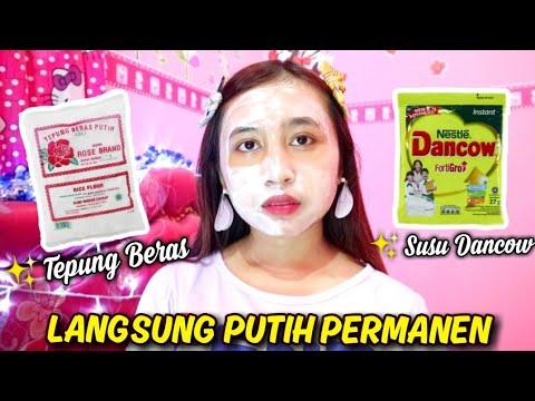 Bandingin Masker Tepung Beras Vs Masker Susu Dancow Tips Bikin Putih Semalam Youtube